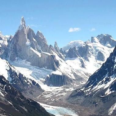 vue depuis le Pliegue Tumbado, El Chalten