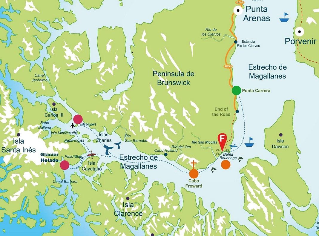 itinéraire détroit Magellan observation baleines