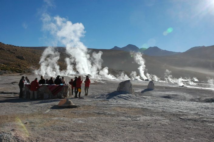 groupe Surinmenso aux geysers du Tatio