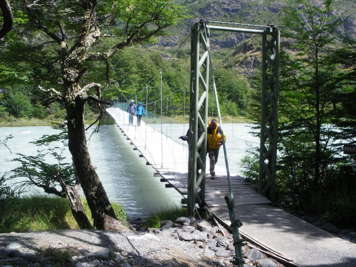 passerelle rio Pingo, Torres del Paine, Chili