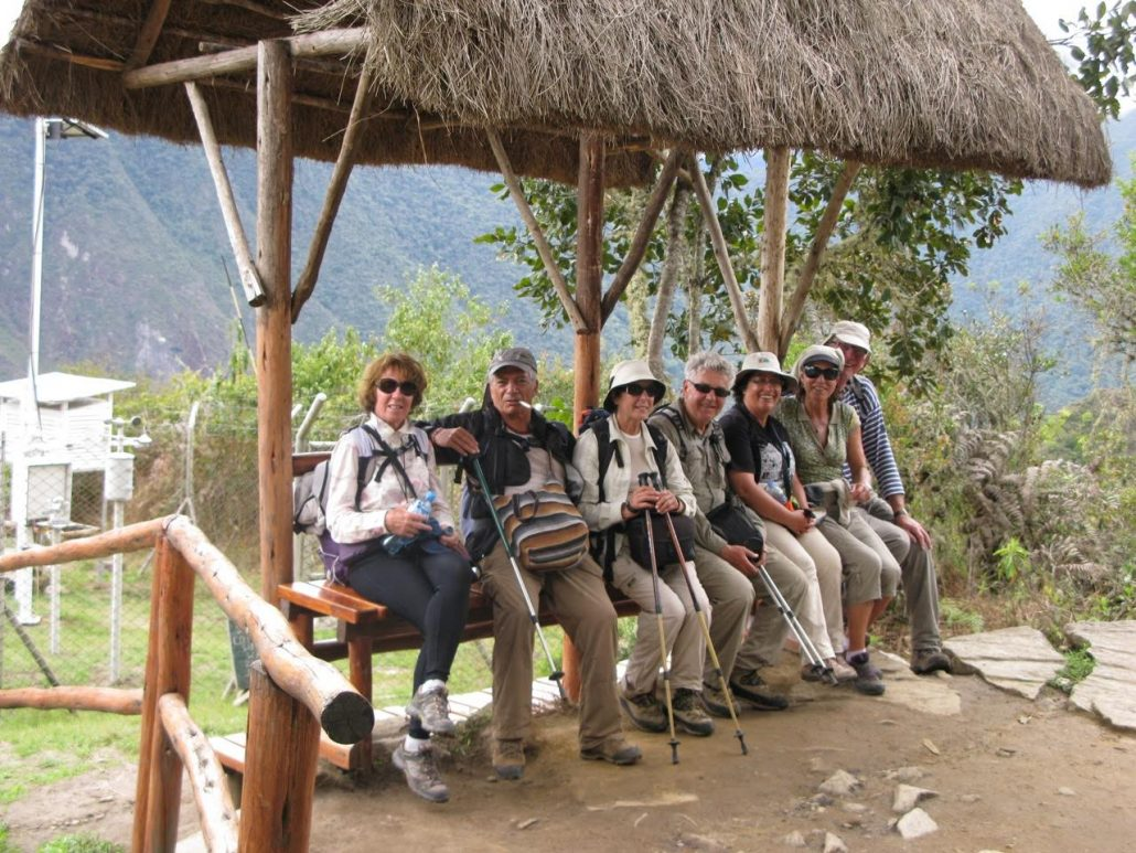 Pause sur le chemin de l'inka