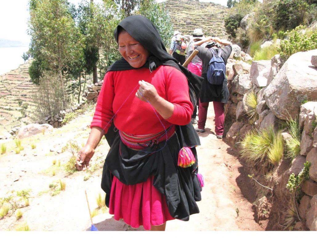 sur les sentiers de Taquile, lac Titikaka