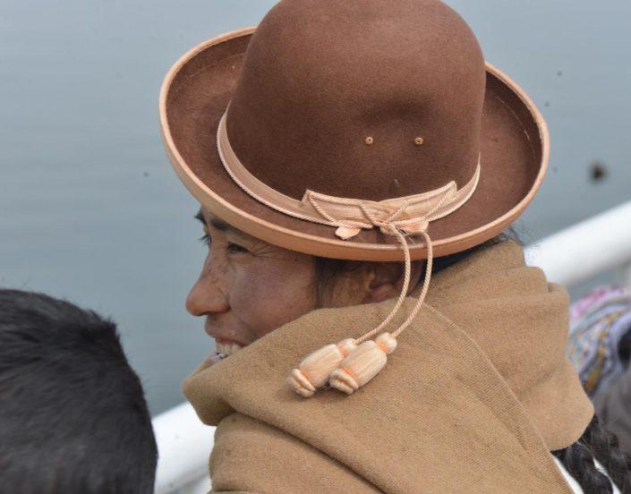 portrait sous chapeau de l'altiplano