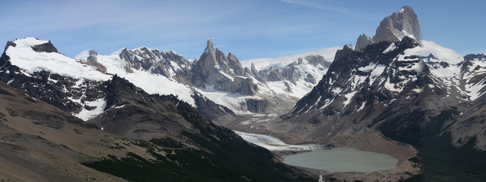 massif cerro Torre et Fitz Roy, El Chalten, Patagonie argentine