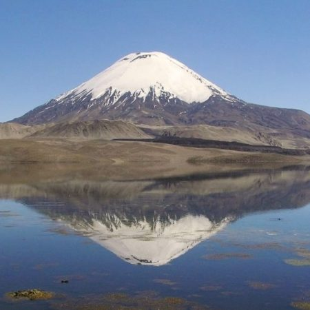 Lac Chungará, parc national Lauca, Chili nord