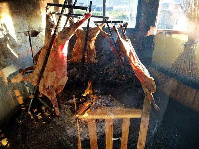 asado, agneau grillé, Patagonie