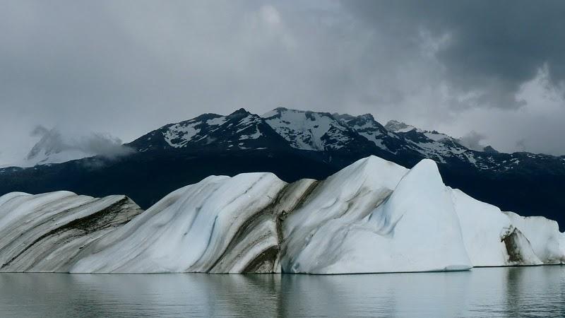 icebergs de l'Upsala, lac Argentino