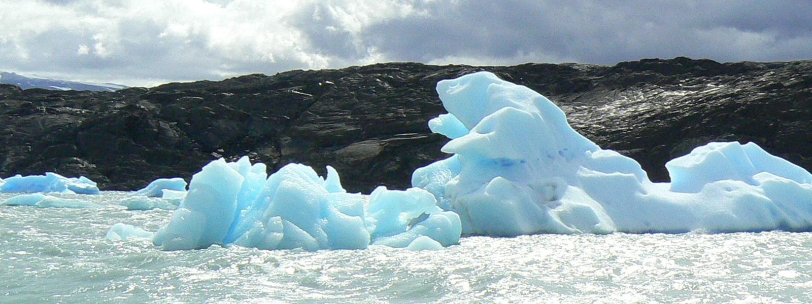 icebergs, Patagonie