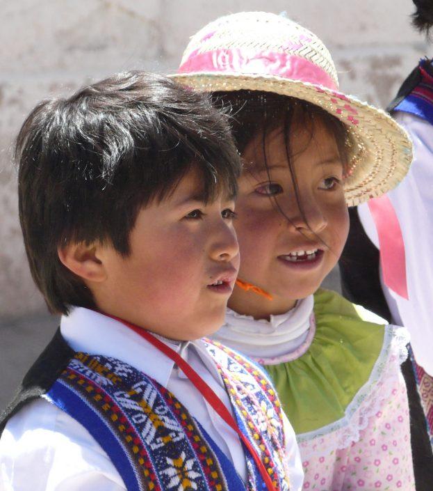 portrait d'enfants, Chili Nord