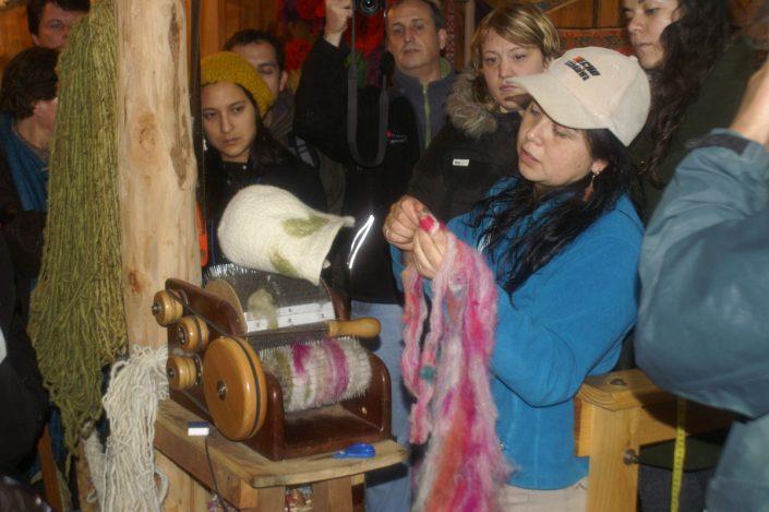Juanita Becerra, travail de la laine