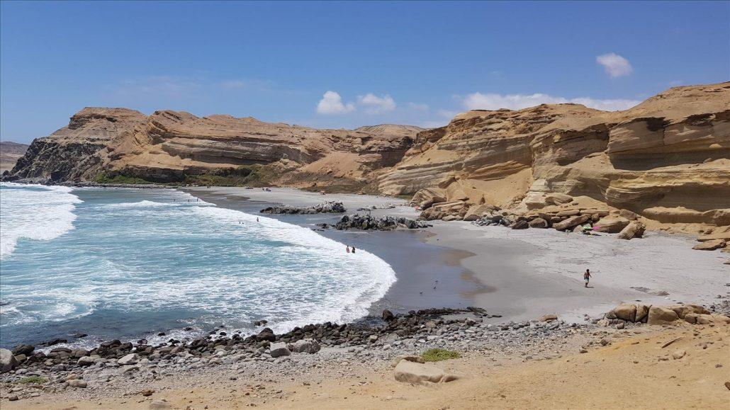 La Côte Pacifique au sud de Bahia Inglesa