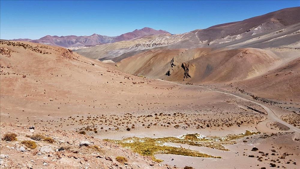 Le désert entre Copiapo et le parc national Nevado Tres Cruces