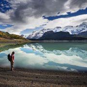 trek baguales, vue sur les glaciers