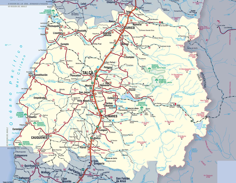 carte région du Maule
