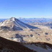Cerro Azul et volcan Quizapú depuis le Descabezado